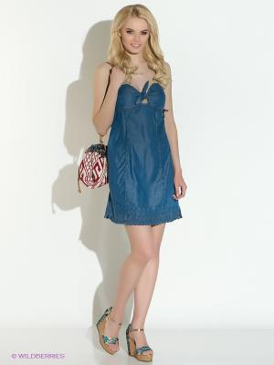 Сарафан джинсовый Gaudi. Цвет: синий