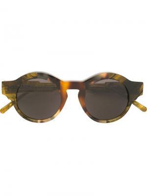 Солнцезащитные очки K9 Kuboraum. Цвет: коричневый