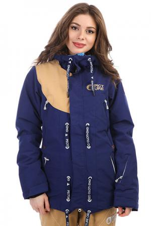 Куртка утепленная женская  Cooler Dark Blue Picture Organic. Цвет: синий