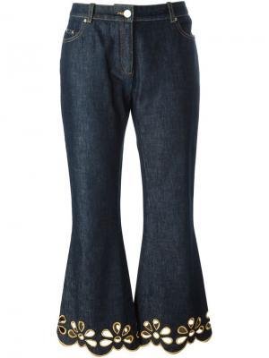 Джинсы с вышивкой Céline Vintage. Цвет: синий