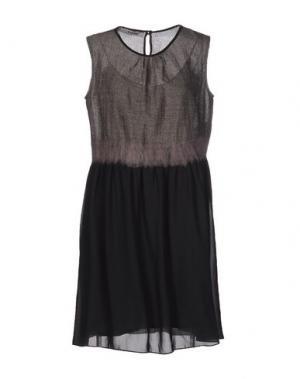 Платье до колена BLUE DEEP. Цвет: серый