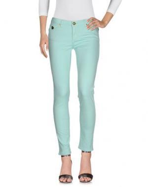 Джинсовые брюки DUCK FARM. Цвет: светло-зеленый