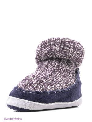 Тапочки- носки противоскользящие BROSS. Цвет: темно-синий