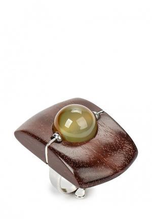 Кольцо Nature bijoux. Цвет: коричневый