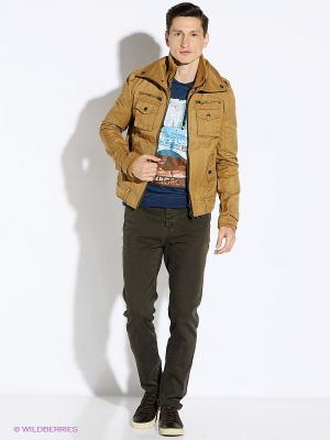 Куртка Oodji. Цвет: светло-коричневый
