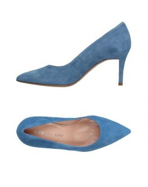 Туфли ANDREA CATINI. Цвет: небесно-голубой