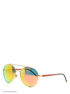 Очки солнцезащитные Mascotte. Цвет: золотистый, голубой