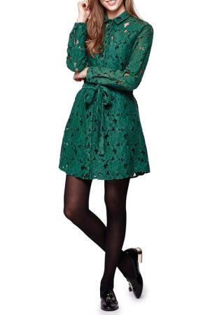 Платье Iska. Цвет: emerald