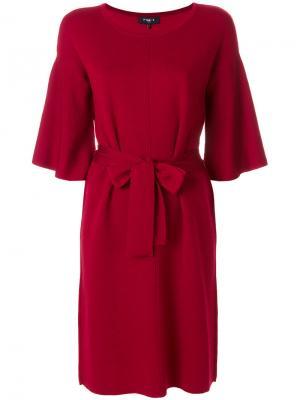 Платье с завязкой на талией Paule Ka. Цвет: красный