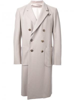 Двубортное пальто 08Sircus. Цвет: телесный