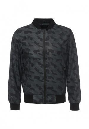 Куртка кожаная B.Men. Цвет: серый