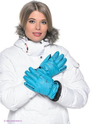 Перчатки Viking caps&gloves. Цвет: голубой, черный