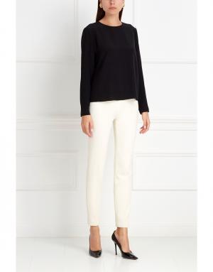 Шелковая блузка NATALIA GART. Цвет: черный