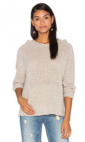 Кашемировый свитер с капюшоном anabel 360 Sweater. Цвет: серый