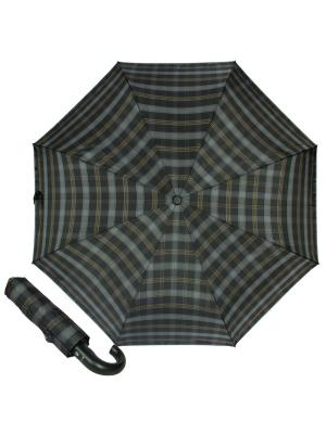 Зонт складной M&P C2796-OC Cletic Blue/Green. Цвет: черный,серый,светло-коричневый