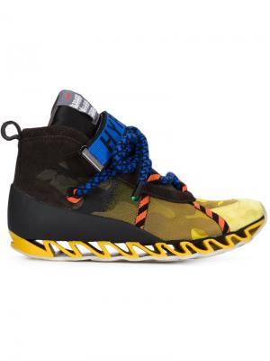 Кроссовки Himalayan  x Camper Bernhard Willhelm. Цвет: жёлтый и оранжевый