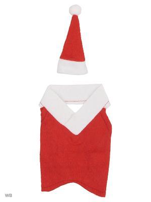 Одежда на бутылку Дед Мороз (шубка и колпак) А М Дизайн. Цвет: красный, белый