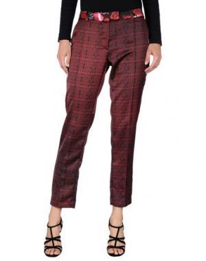 Повседневные брюки PICCIONE•PICCIONE. Цвет: красно-коричневый
