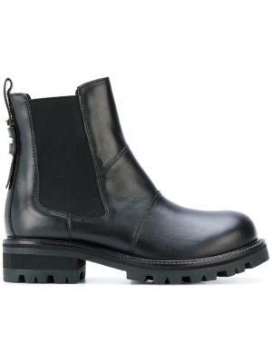 Ботинки по щиколотку Twin-Set. Цвет: чёрный