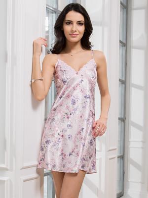 Сорочка MIA-MELLA. Цвет: бледно-розовый