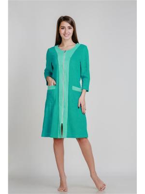 Халат Pastilla. Цвет: зеленый, светло-зеленый