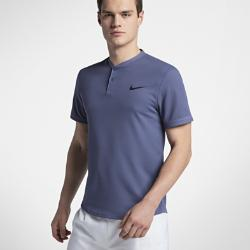 Мужская теннисная рубашка-поло Court Dri-FIT Advantage Nike. Цвет: синий