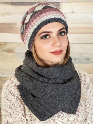 Комплект (шапка, шарф) LORICCI. Цвет: антрацитовый