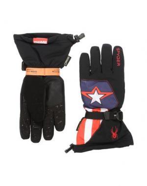 Перчатки SPYDER. Цвет: черный