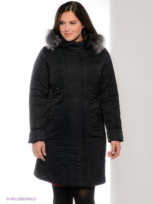 Пальто D`imma. Цвет: темно-синий