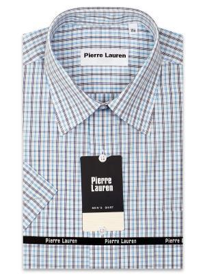 Рубашка Pierre Lauren. Цвет: бирюзовый