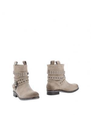 Полусапоги и высокие ботинки TWIN-SET Simona Barbieri. Цвет: светло-серый
