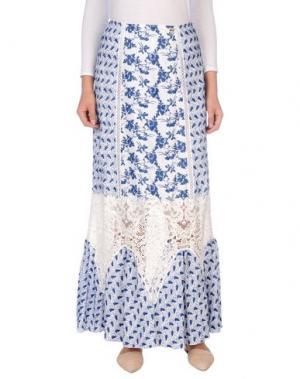 Длинная юбка 22 MAGGIO BY MARIA GRAZIA SEVERI. Цвет: синий