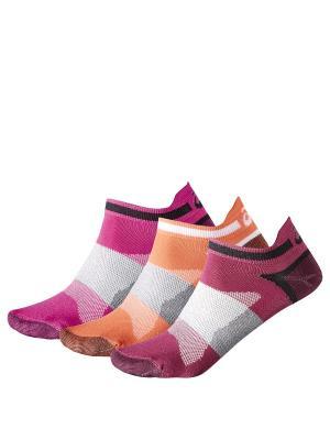 Носки 3 пары в упаковке) 3PPK LYTE SOCK ASICS. Цвет: сиреневый, белый, фиолетовый