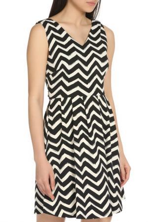Великолепное повседневное платье YUMI. Цвет: black, white
