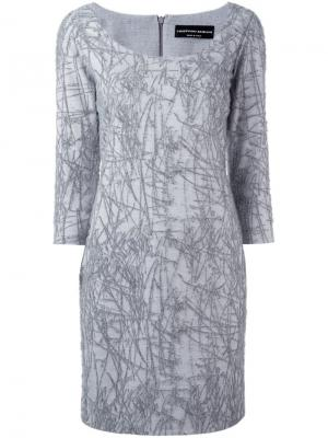 Платье с узором Cristiano Burani. Цвет: серый