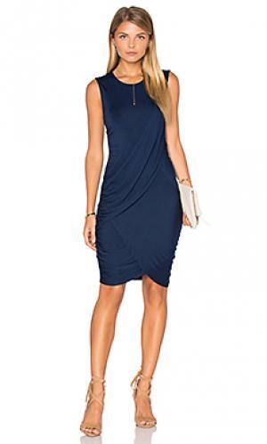 Обтягивающее платье eveny Michael Stars. Цвет: синий