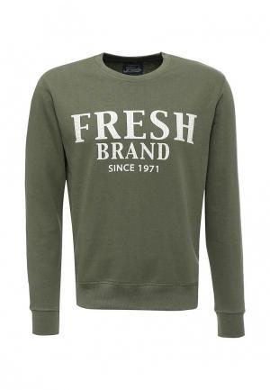 Свитшот Fresh Brand. Цвет: хаки