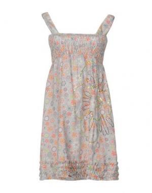 Короткое платье JUST FOR YOU. Цвет: светло-серый