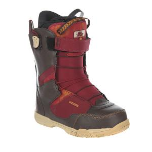 Ботинки для сноуборда  Deemon Pf Elias Deeluxe. Цвет: коричневый,бордовый