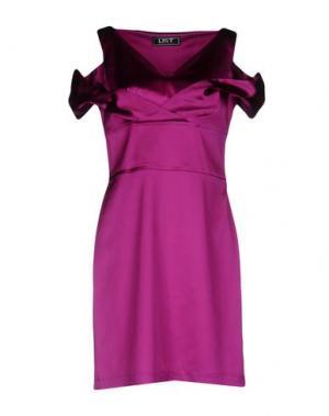 Короткое платье LIST. Цвет: фиолетовый
