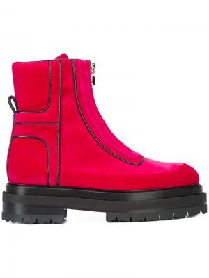 Ботинки по щиколотку на молнии спереди Pierre Hardy. Цвет: розовый и фиолетовый