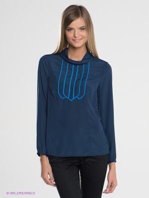 Блузка SILVIAN HEACH. Цвет: синий