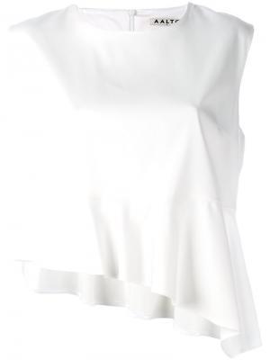 Асимметричный топ Aalto. Цвет: белый