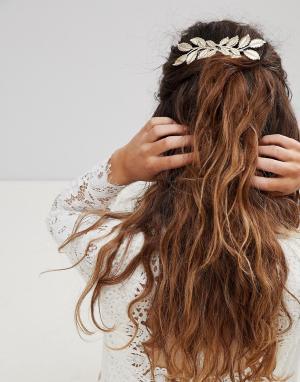 ASOS Украшение для волос BRIDAL. Цвет: золотой