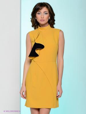 Платье Nastya Sergeeva by May Be. Цвет: горчичный
