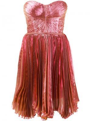 Платье Lolicactus с плиссировкой Maria Lucia Hohan. Цвет: розовый и фиолетовый