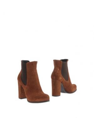Полусапоги и высокие ботинки EMANUELA PASSERI. Цвет: коричневый
