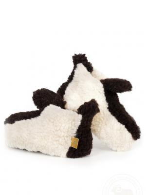 Туфли TEDDY white ALWERO. Цвет: темно-коричневый, молочный