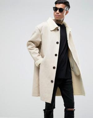 Sixth June Белое пальто из искусственной овчины. Цвет: белый