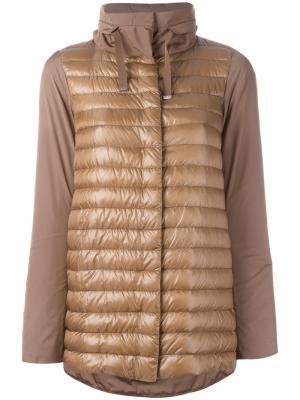 Куртка-пуховик Herno. Цвет: коричневый